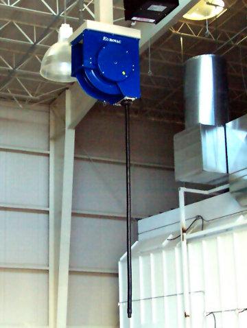High Vacuum System Hose ReelEurovac High Vacuum Spring Retractable Hose  Reel Provides Easy Access Source Capture Of Fiberglass Dust At An Auto Body  Repair ...
